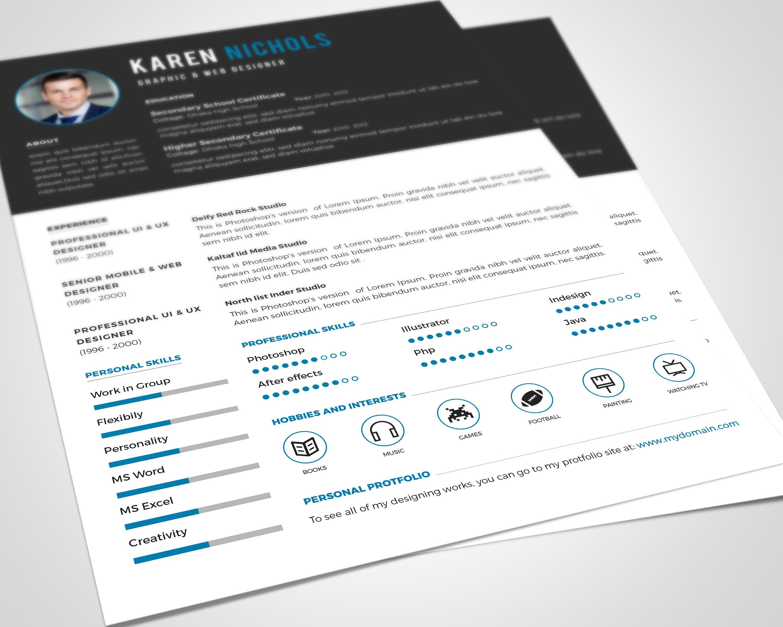 free resume template download by rakibsarowar on deviantart