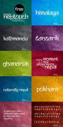 Ananda Neptouch Free Font by lalitkala