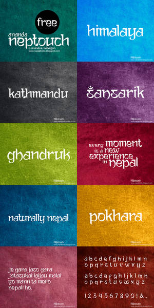 Ananda Neptouch Free Font
