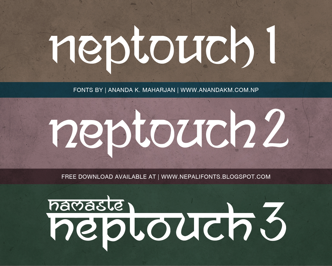Ananda Neptouch 1  2 and 3 free fonts by lalitkala on DeviantArt