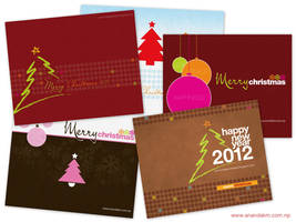 Christmas cards 2012 wallpapers pack1 by lalitkala