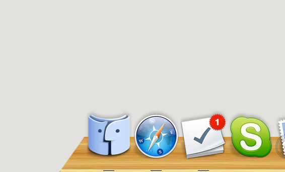 Norwegian Wood: Dock for Mac by TinyLab
