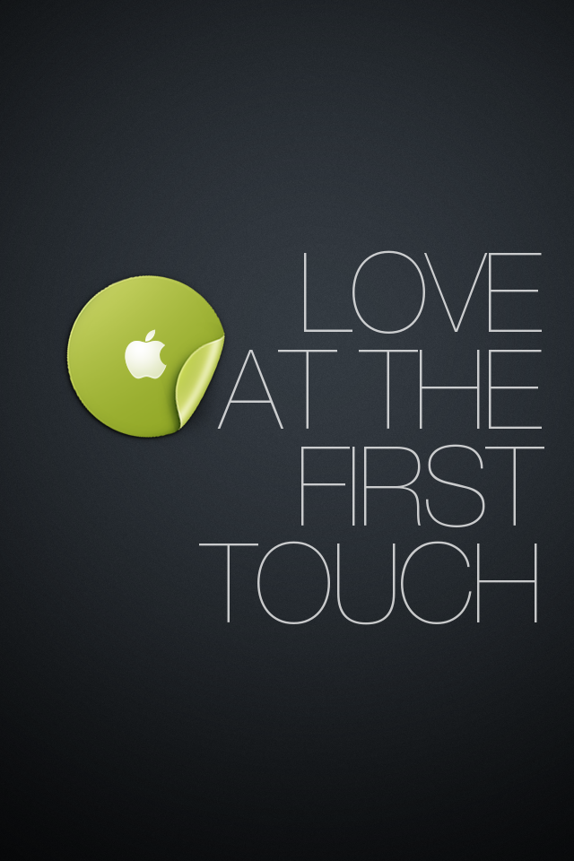 iPhone Wallpaper: First Touch by TinyLab