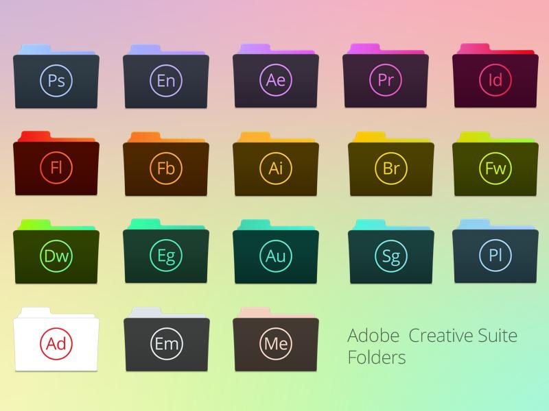 Adobe Creative Suite Folders by TinyLab