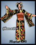 Autumn Geisha-Figure Stock