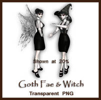 Goth Fae and Witch by shd-stock