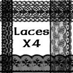 PS brushes: Lace X 4 by pokukene
