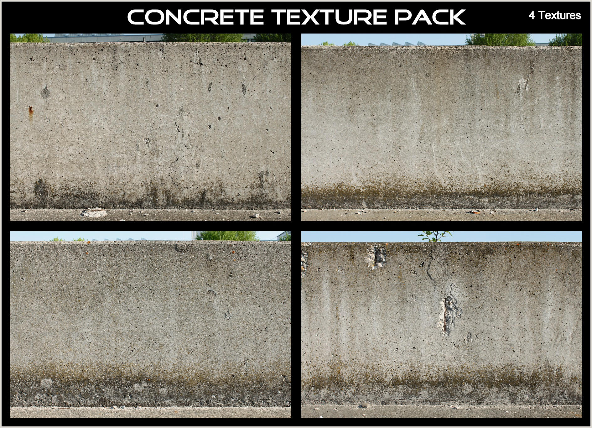 Concrete Texture Pack by AGF81