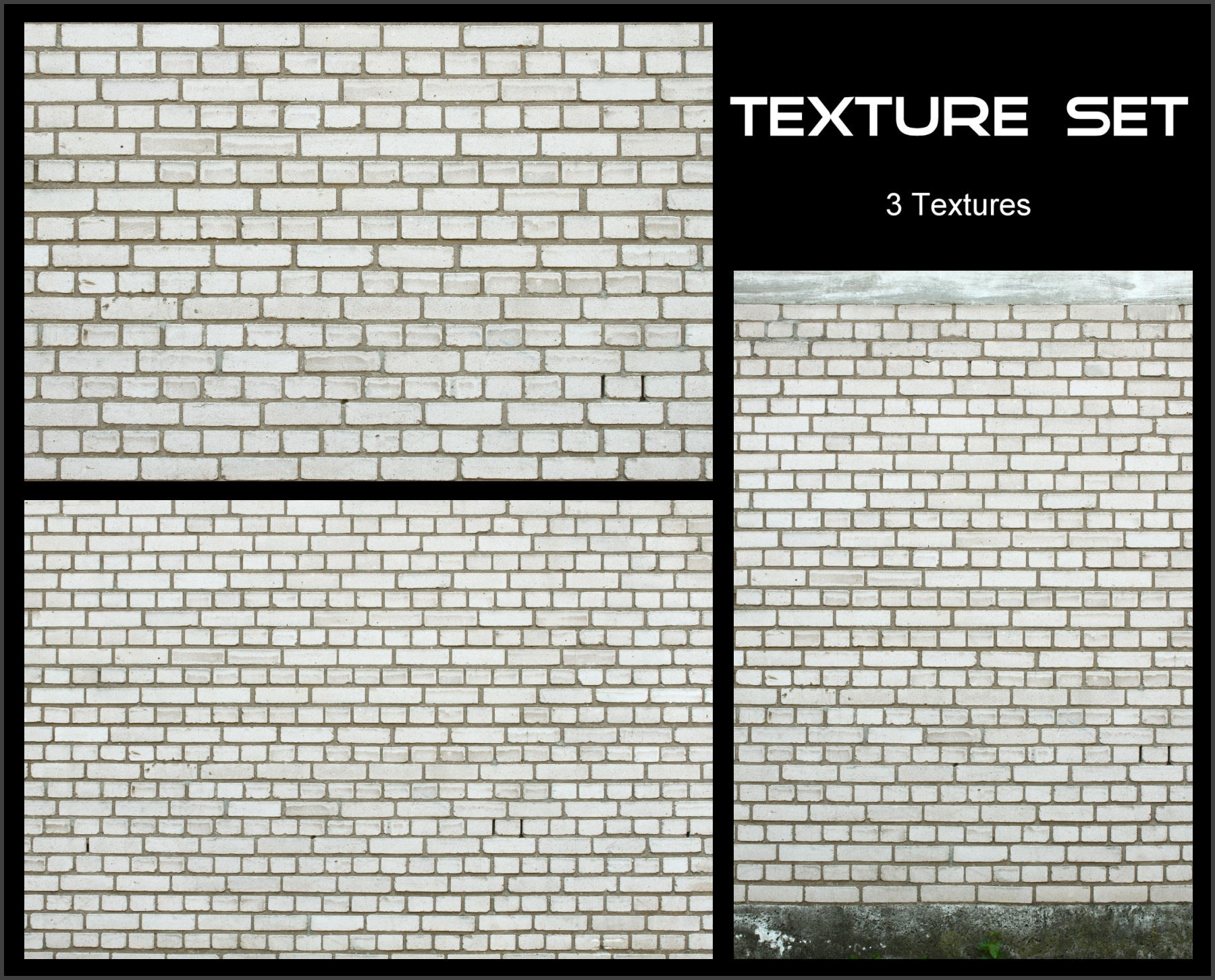 Texture Set - White Brick by AGF81