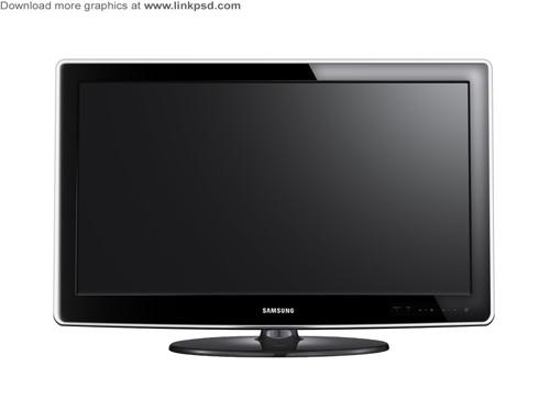 LCD TV flat screen PSD file