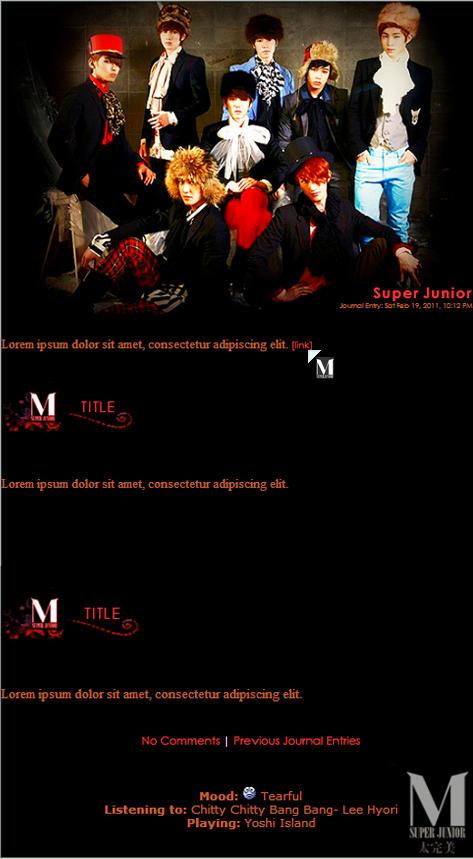 Super Junior-M Journal Skin 1 by Anysayuri