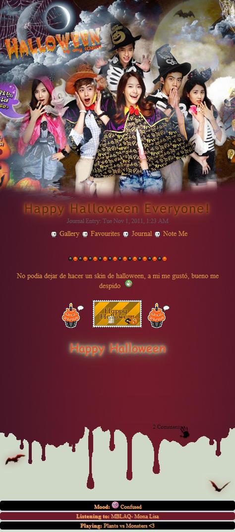 Halloween Journal Skin by Anysayuri