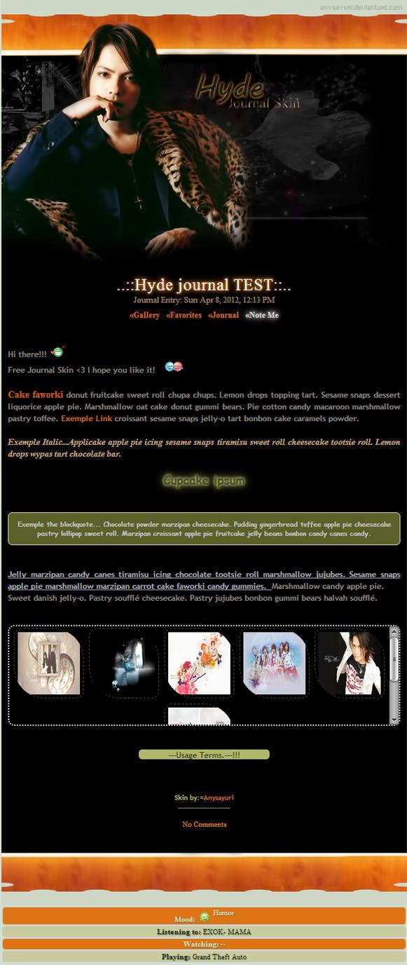 ..::Hyde Journal skin::.. by Anysayuri