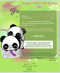 :Kawaii: Panda Free Journal Skin
