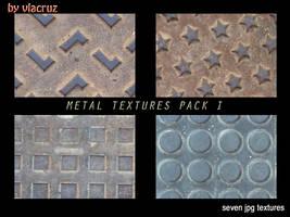 Metal textures pack II by vlacruz-stock