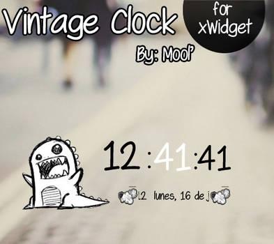 Vintage Clock- By Mool'
