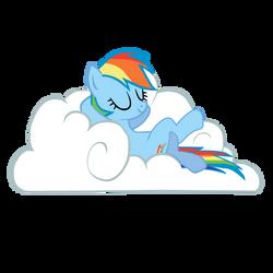 Rainbow Dash on cloud