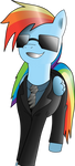 Rainbow Dash in suit by jerry411