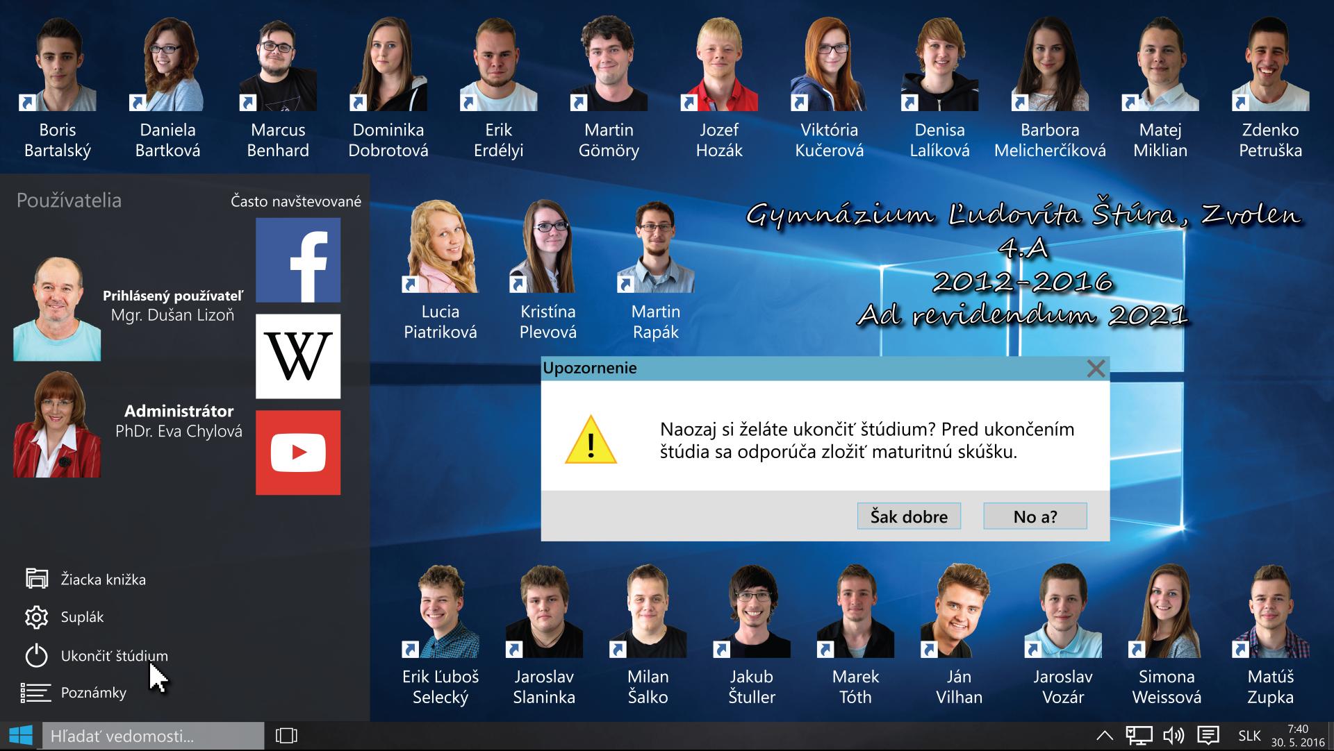 Windows 10 School Tableau by jerry411