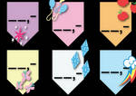 My Little Pony - Mane 6 Price tags by jerry411