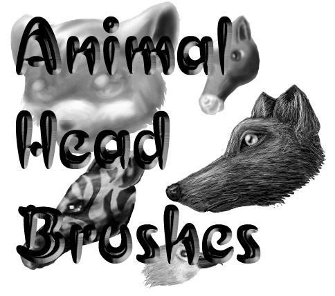 Animal Heads Brush Set by pokefan