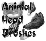 Animal Heads Brush Set