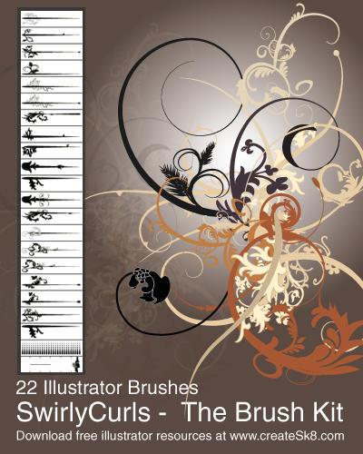 Swirly Curls - Sick Brush Kit by namespace