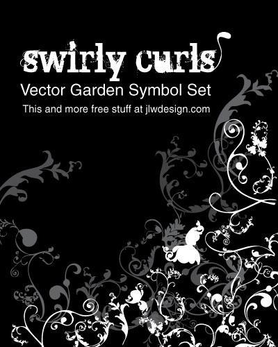 Swirly Curls - Vector Garden by namespace