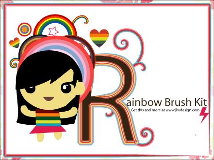 The Rainbow Brush Kit by namespace