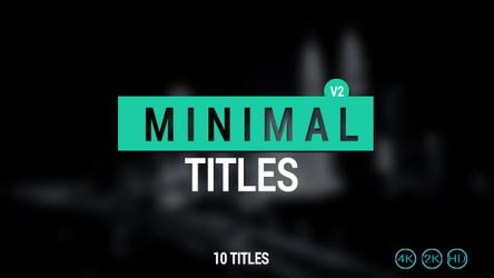 10 Minimal Titles