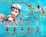 SSF4AE: Sakura - Swimmer costume