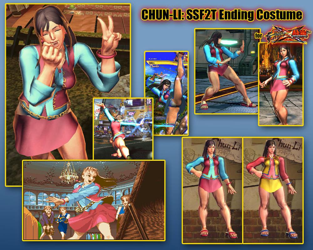 SFxT: Chun-Li SSF2T Ending Costume by sloth85
