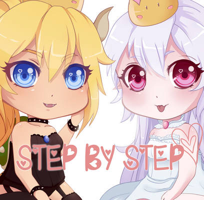 Bowsette and Boosette - Step by Step