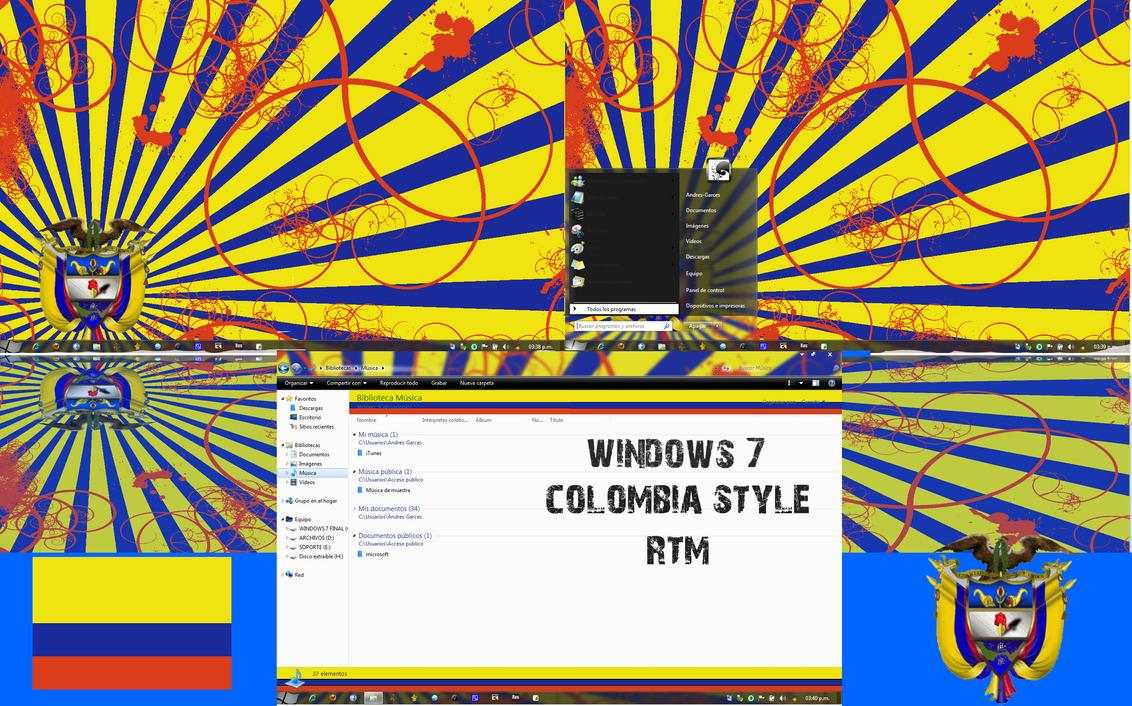 WINDOWS 7 RTM COLOMBIAN STYLE by MrMarchenprinz