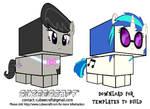 Cubeecraft Octavia Melody and DJ Pon-3 by GrapefruitFace1