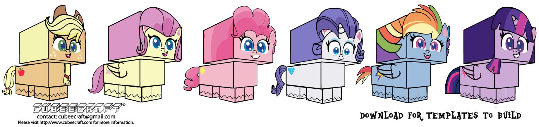 Cubeecraft Ponylife Mane Six