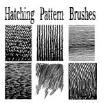 Pen and Ink Hatching Brushes by bozoartist