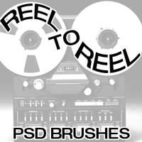 Reel to Reel Brush Set by bozoartist