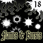 Flames and Bursts PS Shapes