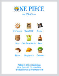 ONE PIECE Icons by benbackman