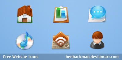 Free Website Icons by benbackman