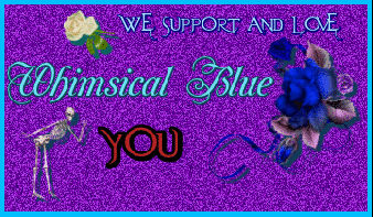Whimsical Blue Support Stamp