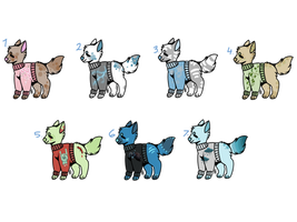 Sweater Pups Auctions - OPEN by Mareena123