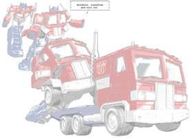 ASCII transformation of Optimus Mk2
