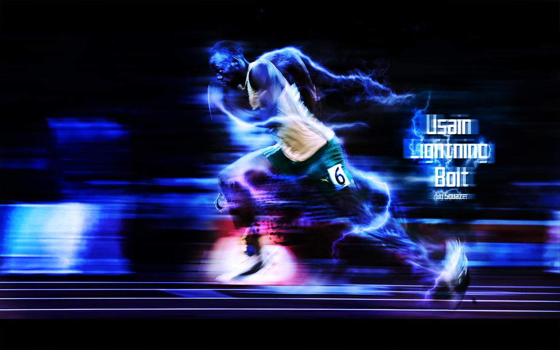 Usain Lightning Bolt By Real Squazer