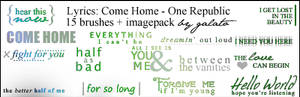 15 Brushes: Come Home lyrics
