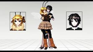 (MMD Poison Bugs + DL) Scor and Mitsuki
