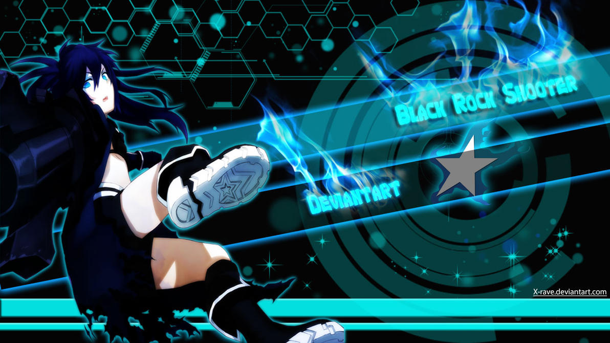 x-rave~black-rock-shooter-wallpaper-hd + psd filex-rave on
