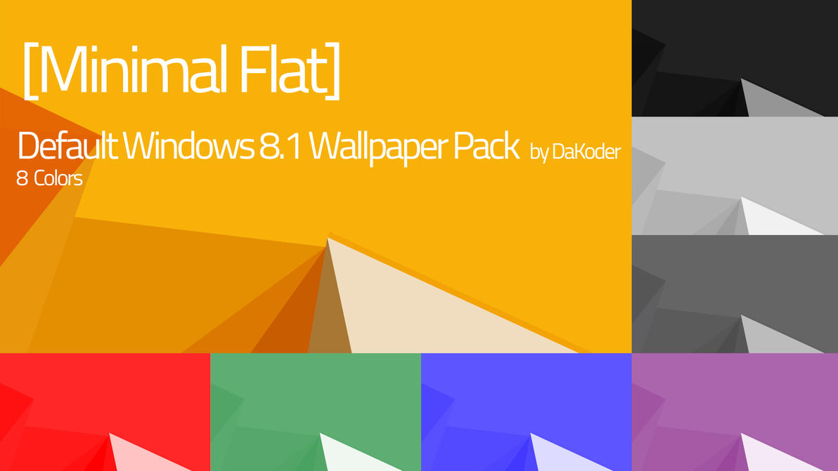 MinFlat Default Windows 81 Wallpaper Pack By DaKoder