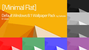 [MinFlat] Default Windows 8.1 Wallpaper Pack